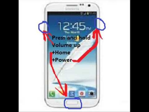 Samsung Galaxy Note II Hard Reset