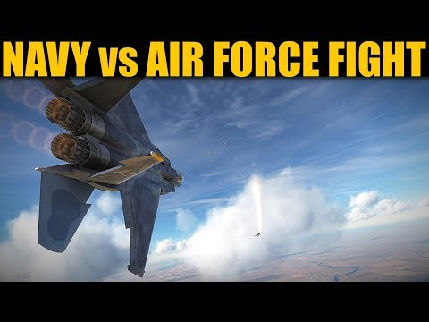 Superior Dogfight: 4 X Navy F-18 Vs 4 X Air Force F-15 | DCS WORLD