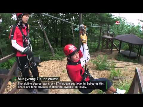 Korea Top 10 – S1E3_07 Zipline is an adventure sport that can be enjoyed in all four season