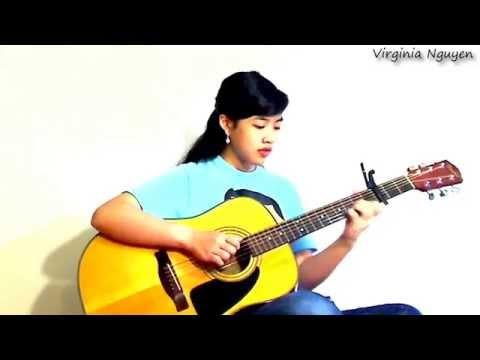 Sầu Tím Thiệp Hồng - Guitar Virginia Nguyen(bé Mẫn)