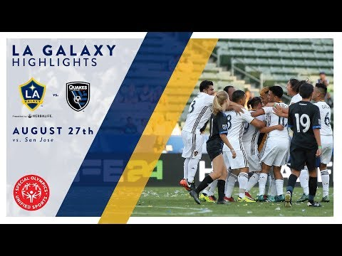 Video: HIGHLIGHTS: LA Galaxy Special Olympics Unified vs. San Jose Earthquakes | August 27, 2017