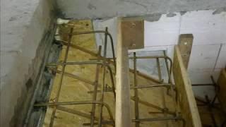 Процесс изготовления бетонной лестницы