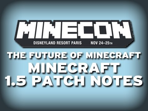 Minecraft: MINECON 1.5 NEWS! (THE REDSTONE UPDATE)