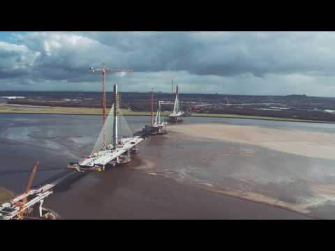 Mersey Gateway construction progress