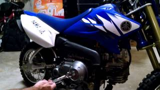 8. How to adjust clutch on Yamaha TTR-50