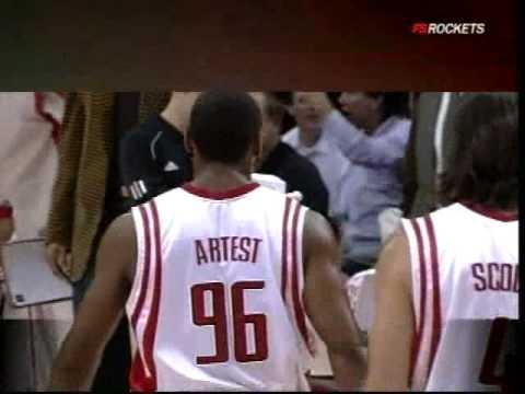 Ron Artest bulldozer slam over Ronny Turiaf