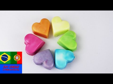 Sabonetes coloridos | Faça suas próprias cores de sabonete! | Aprenda as cores e misturas