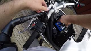 7. 2011 Triumph Speed Triple - Changing the battery to SHIDO Lithium.