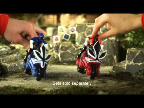 Power Rangers Samurai Switch Morphin Figures and Disc Cycles