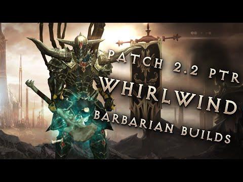 2.2 Whirlwind Barbarians - 3 Build Comparison, Diablo 3 Reaper of Souls PTR Showcase
