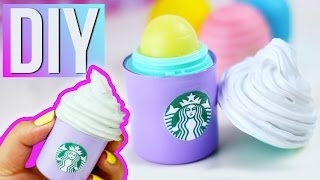 DIY STARBUCKS EOS - Make your own STARBUCKS Lip Balm! - YouTube
