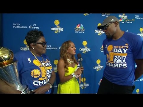 Video: Kevin Durant, mother describe long road to title