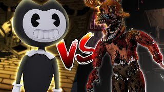 Video Minecraft BENDY AND THE INK MACHINE VS FNAF FOXY - WHO IS THE MOST EVIL BENDY OR FOXY???? MP3, 3GP, MP4, WEBM, AVI, FLV Mei 2017