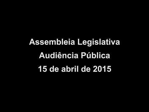 Audiência Pública na ALESP 15/04/2015