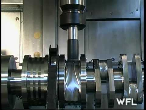 m60 - The WFL M60 demonstrates it's capabilities by machining a complete crankshaft in one operation. Contact www.martechcnc.com.
