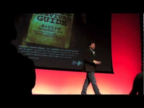 Max Brooks - Max Brooks speaking at a Zombie Survival Seminar at Rutgers University in New Brunswick NJ. 10/20/11.