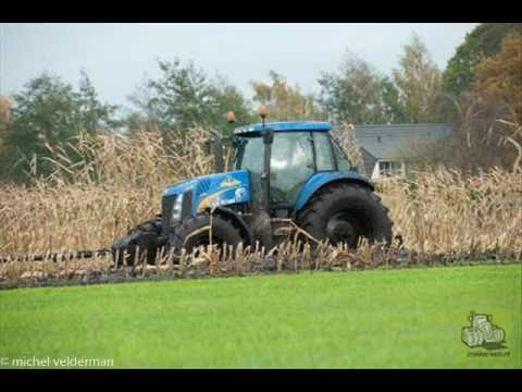 tractors snow and mud