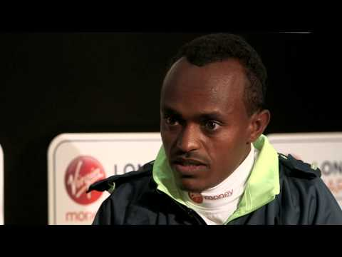 Tsegaye Kebede - Tsegaye Kebede talks about his attempt to win a third title at this year's Virgin Money London Marathon.
