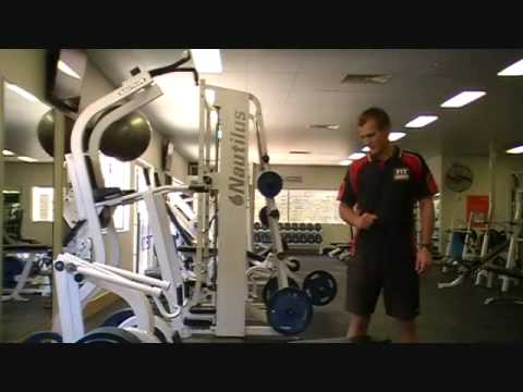 FITCollege - http://www.FitCollege.edu.au/ Today our Fit College Trainer Mark, shows Matt how to use the Horizontal Pulley Machine. Discover what muscles this exercise us...