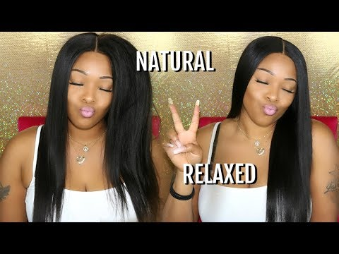 Hair salon - Hair Tutorial: My Natural To Relaxed Hair Look No Salon Needed  360 Lace Frontal Wig  WowAfrican