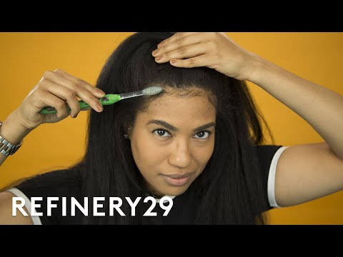My Favorite Way To Lay Edges   Hair Me Out   Refinery29 (видео)