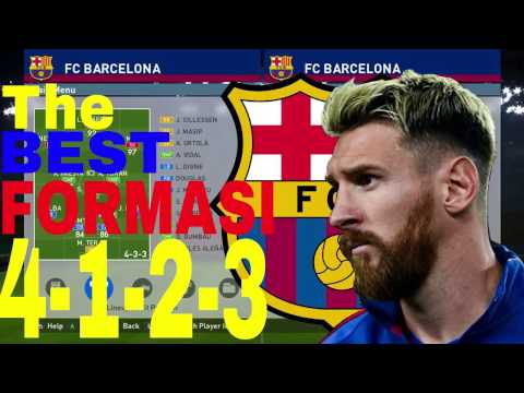 PES 2016/2017 Tutorial Formasi Terbaik Barcelona | The BEST FORMATION Barcelona