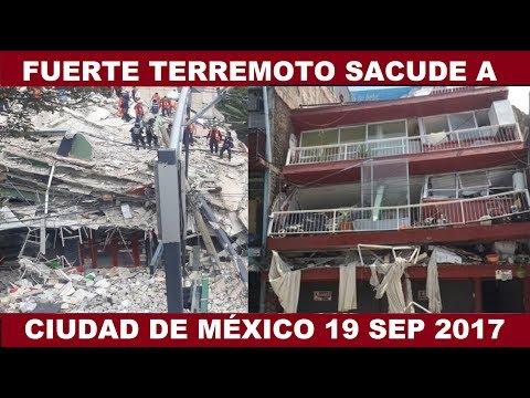 EDIFICIOS SE COLAPSAN EN CIUDAD DE MÉXICO DESPUÉS DEL FUERTE TERREMOTO 7.1 19 Septiembre 2017 (видео)