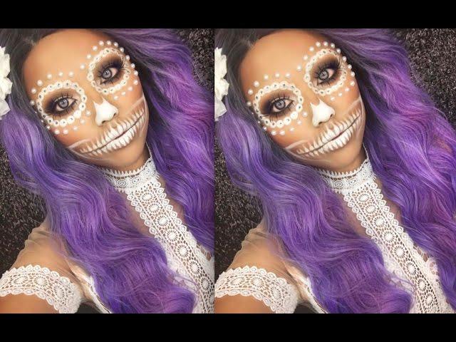 White-henna-skull-makeup-tutorial