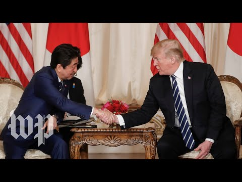 Trump hosts a press conference with Prime Minister of Japan