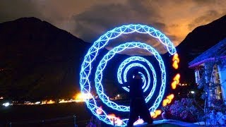 Visual Poi Improv during a beautiful night over the Sacred Valley