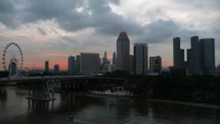 Singapore City Sunset