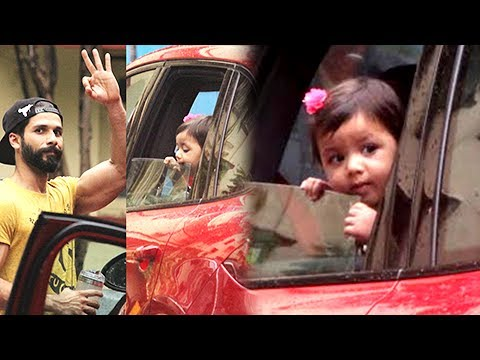 Baby Misha PICKS Daddy Shahid Kapoor From The Gym