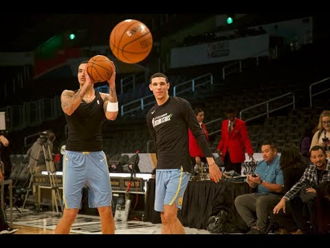 Video: Lonzo Ball, Kyle Kuzma Shoot Warm Up 3-pointers LEFT Handed Before NBA Rising Stars Game