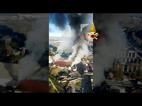 Πυρκαγιά σε κέντρο συλλογής και επεξεργασίας απορριμμάτων στη Ρώμη…