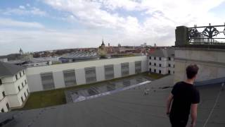 Braunschweig Germany  City pictures : Climb on Schloss Arkaden in Braunschweig, Germany [Busted]
