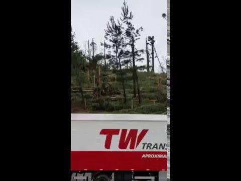 Vídeo feito por um morador de Ponte Alta do Norte, após microexplosão