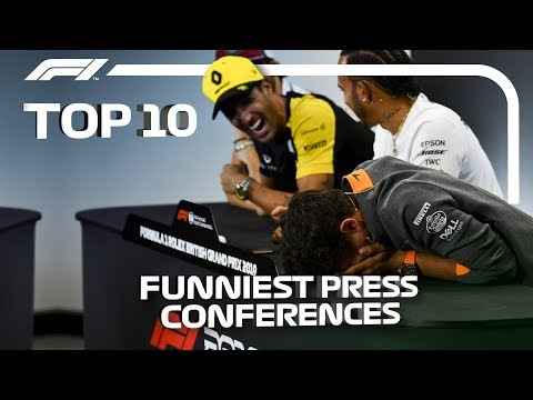Top 10 Funniest F1 Press Conferences!