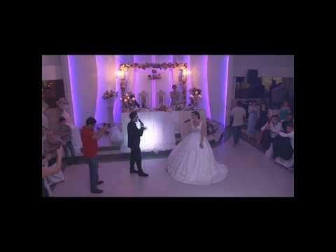 სიძე-დედოფლის სიმღერა სიურპრიზი ქორწილში (ვიდეო)