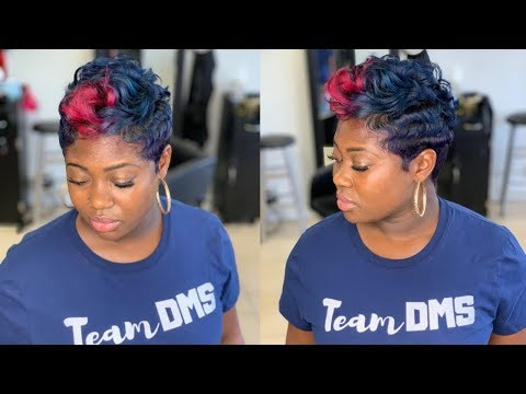 Hair color - Color and curl slay  How to curl short hair
