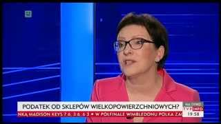 Ewa Kopacz: warzywa w Biedronce są super