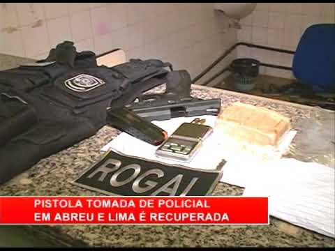 [RONDA GERAL] Pistola tomada de policial em Abreu e Lima é recuperada