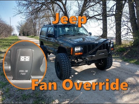 Jeep Cooling Fan Override Switch Install