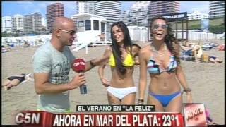 Mar Del Plata Argentina  city images : C5N - VERANO 2015: 23º EN MAR DEL PLATA