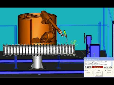 3D simulation of welding robot CLOOS