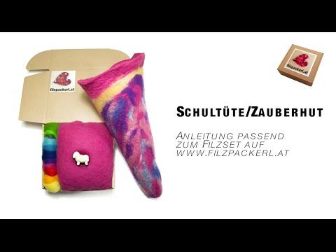 Schultüte & Zauberhut aus Schafwolle filzen – Filzanleitung