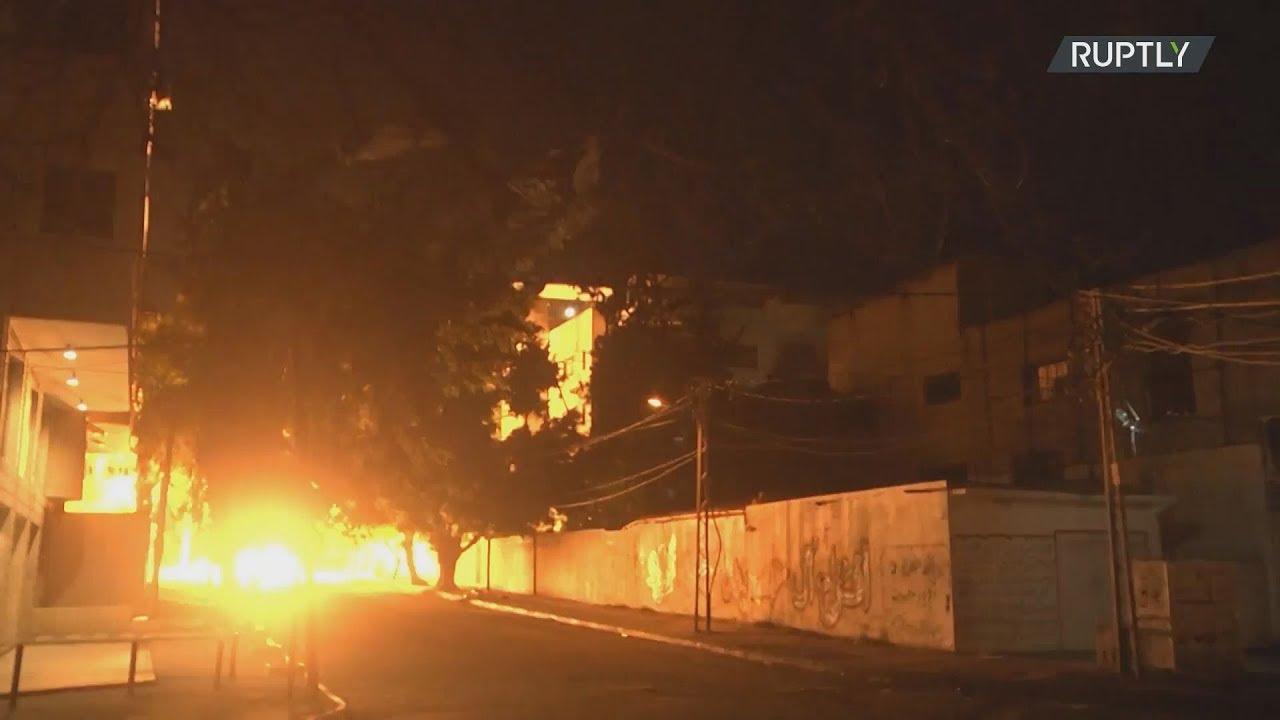 Μπαράζ παλαιστινιακών ρουκετών εναντίον του Ισραήλ και ισραηλινών αεροπορικών επιδρομών στη Γάζα.