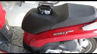 10. Kymco People S 200 Scooter Battery Replacement How To