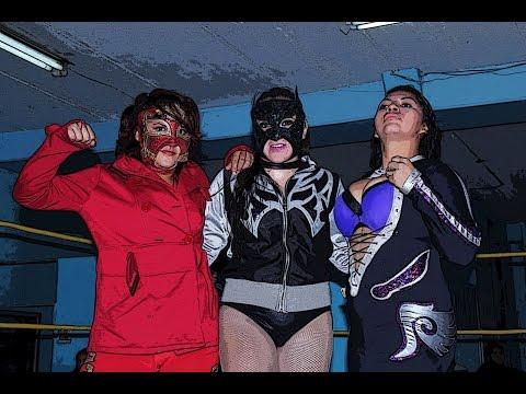 Marcela, Zafiro y Jarochita vs Diosa Quetzal, Keira y Paloma Rouse (видео)