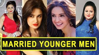 Top 12 Beautiful TV Actresses Married Younger Men Of Indian Television