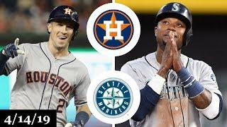 Houston Astros vs Seattle Mariners Highlights | April 14, 2019